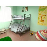 Кровать металлическая двухъярусная Глория