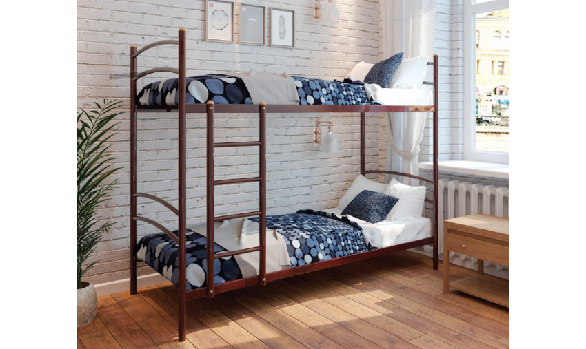 Кровать металлическая двухъярусная Хостел Duo
