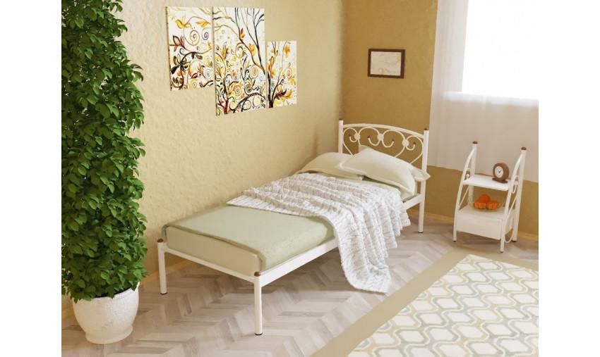 Кровать металлическая одинарная Ева
