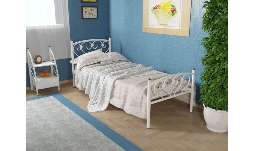 Кровать металлическая одинарная Ева Plus