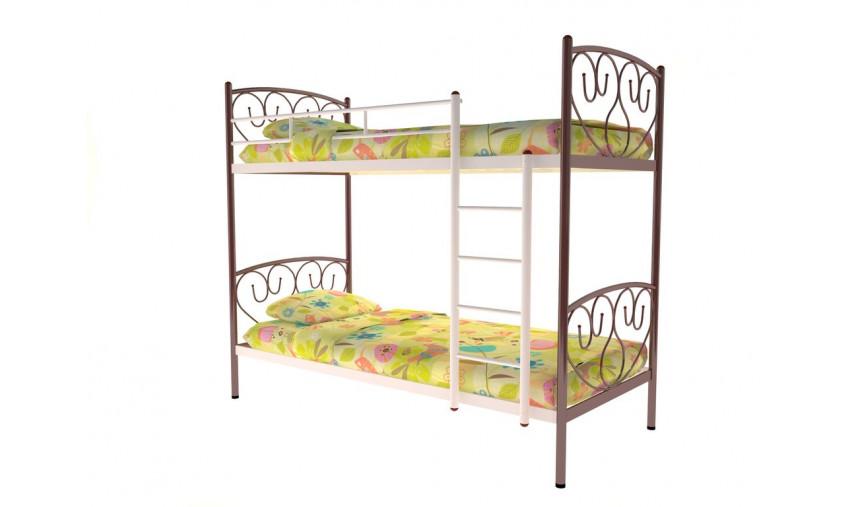 Кровать металлическая двухъярусная Злата