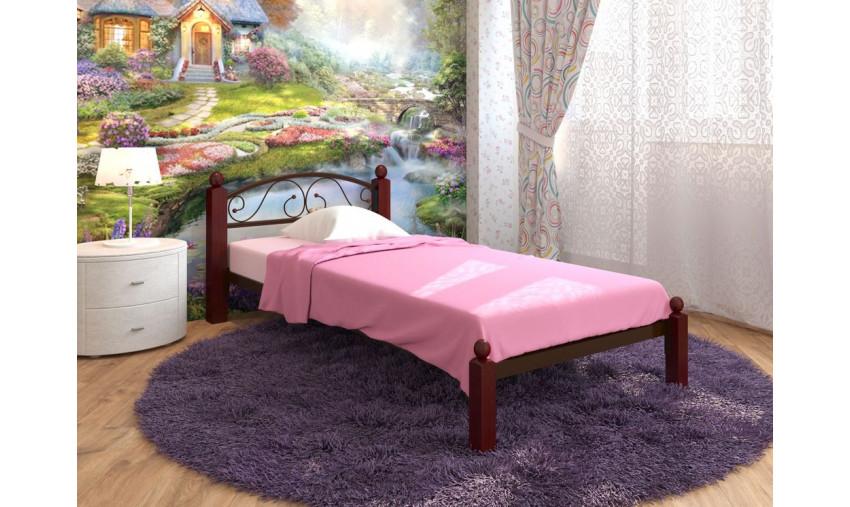 Кровать одинарная металлическая Вероника Lux