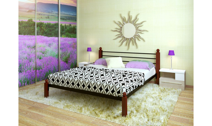 Кровать металлическая Милана Lux