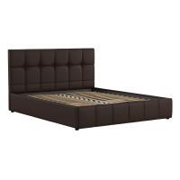 Кровать Хлоя Пегасо шоколад к/з темно-коричневый
