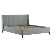Кровать Мелисса Тори 61 велюр серебристый серый