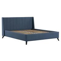 Кровать Мелисса Тори 83 велюр серо-синий