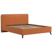 Кровать Миа Купер 12 жаккард тыквенный/кант лайт 10 велюр коричневый