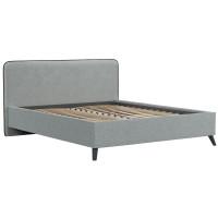 Кровать Миа Купер 18 жаккард серый/кант лайт 10 велюр коричневый