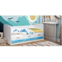 Кровать Дельфин УФ печать