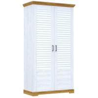 Шкаф для одежды 2-х дверный Кантри Сосна Андерсен/Орех Рибек натуральный
