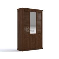 Шкаф 3-х дверный Кантри Орех Рибек темный