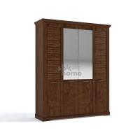 Шкаф 4-х дверный Кантри Орех Рибек темный