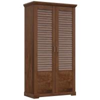 Шкаф для одежды 2-х дверный Кантри Орех Рибек темный
