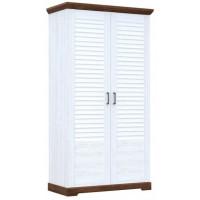 Шкаф для одежды 2-х дверный Кантри Сосна Андерсен/Орех Рибек темный