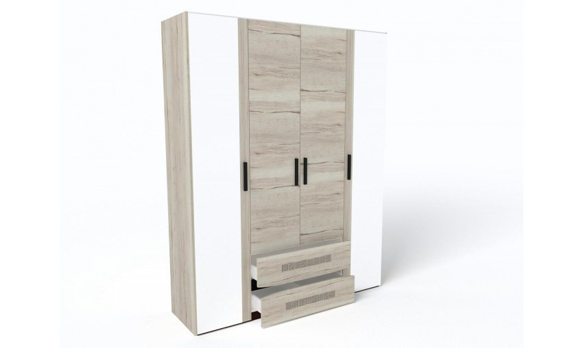 Шкаф 4-х дверный Мале