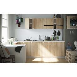Кухня модульная Ронда Дуб Сонома 2.4м