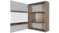 Шкаф навесной (горизонтальный 700) Ницца