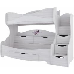 Кровать двухъярусная (без матраца 0,8*2,0) Акварель 1