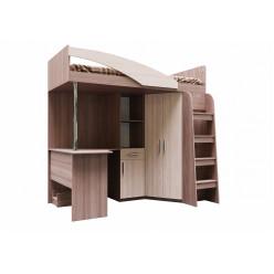 Кровать двухъярусная (комбинированная) (Без матраца 0,9*2,0)  Город