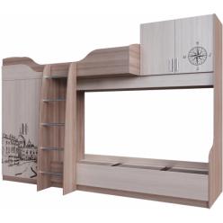 Кровать двухъярусная (Без матрацев 0,8*2,0 ) Город