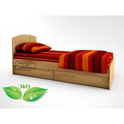 Детская кровать с ящичным блоком Акварель
