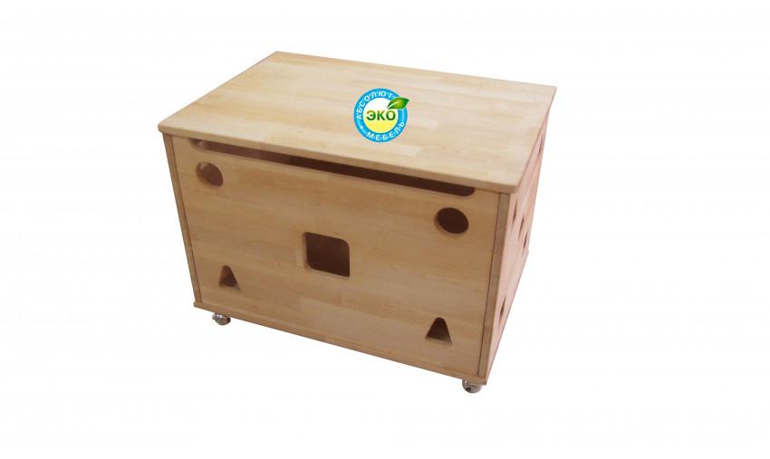 Деревянный короб для игрушек Буковка