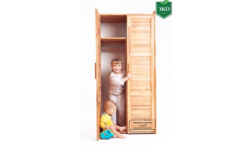 Деревянный комбинированный шкаф Буковка Б-15-1