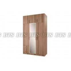 Шкаф 3-х створчатый с перегородкой