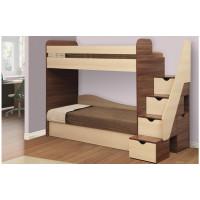 Кровать двухъярусная Адель-3 с матрасами