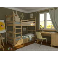 Деревянная кровать двухъярусная Соня