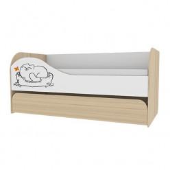 Кровать двухуровневая Кот