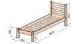 Деревянная кровать БЕР-7