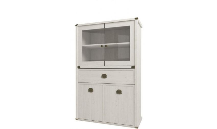 Шкаф с витриной 2V2D1SL Магеллан