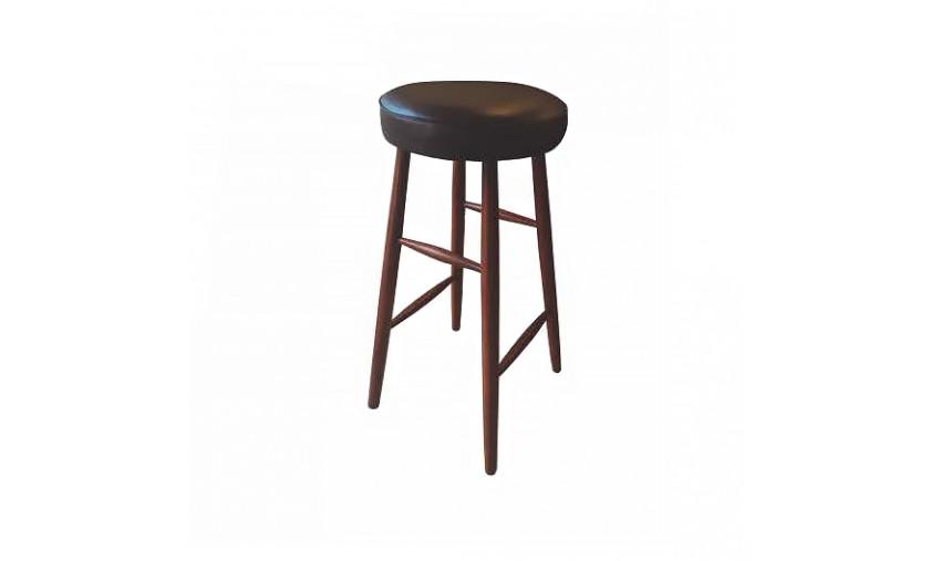 Табурет деревянный Шик барный с мягким сиденьем