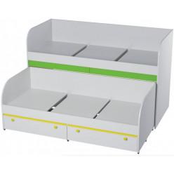 Кровать двухъярусная с ящиками Мамба КР-06
