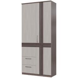 Шкаф 2-х дверный с ящиками Презент