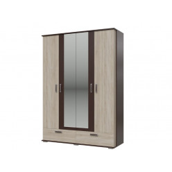 Шкаф 4-х дверный с ящиками Даллас