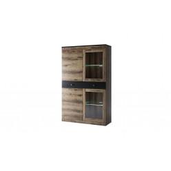 Шкаф с витриной 2V2D1S Jagger (Джаггер)